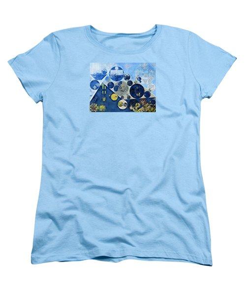 Abstract Painting - Kashmir Blue Women's T-Shirt (Standard Cut) by Vitaliy Gladkiy