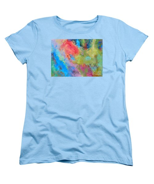 Women's T-Shirt (Standard Cut) featuring the painting Abstract by Reina Resto