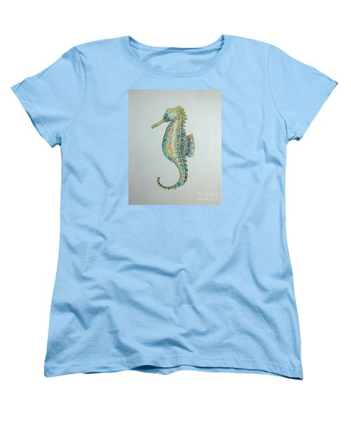 Abstract Seahorse Women's T-Shirt (Standard Cut) by Tamyra Crossley