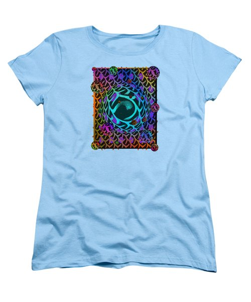 Women's T-Shirt (Standard Cut) featuring the digital art Abstract - The Fabric Of Life by Glenn McCarthy Art and Photography