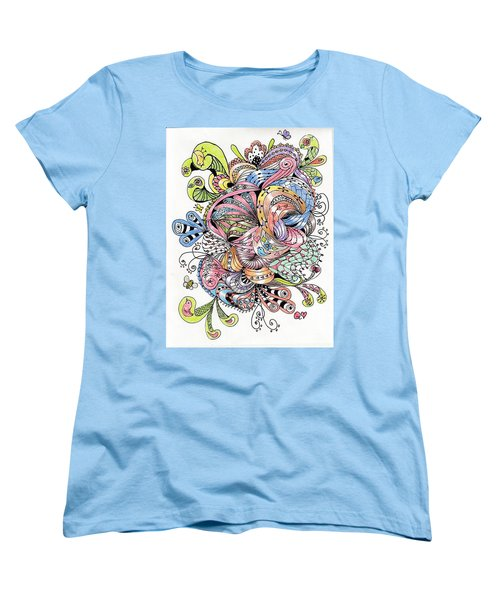Abstract2colored Women's T-Shirt (Standard Cut) by Quwatha Valentine
