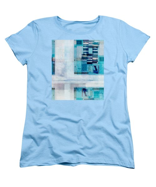 Women's T-Shirt (Standard Cut) featuring the digital art Abstractitude - C02v by Variance Collections