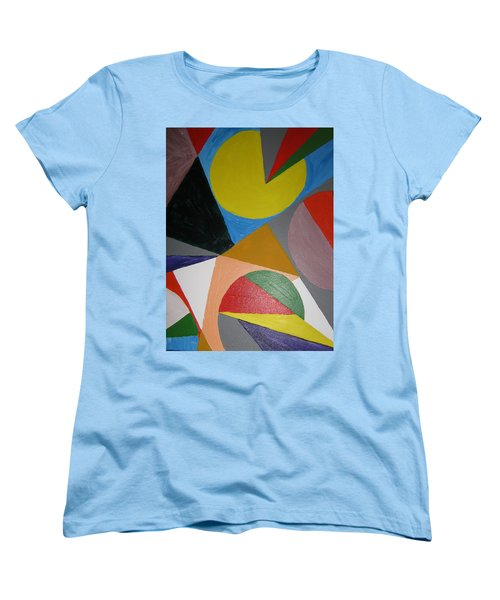 Women's T-Shirt (Standard Cut) featuring the painting Accidental Pacman by Barbara Yearty