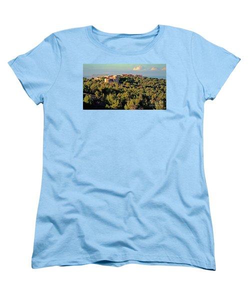 Women's T-Shirt (Standard Cut) featuring the photograph Adobe Homestead Santa Fe by Diana Mary Sharpton