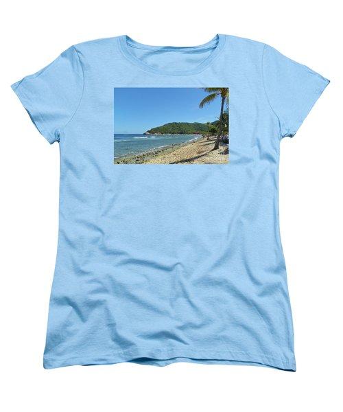 Women's T-Shirt (Standard Cut) featuring the photograph Adrenaline Beach by Carol  Bradley