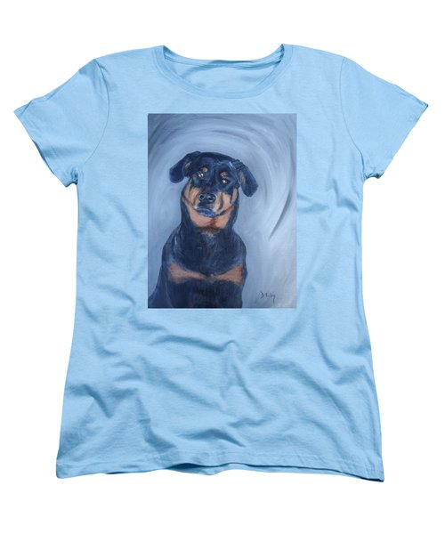 Women's T-Shirt (Standard Cut) featuring the painting Adrian by Donna Tuten
