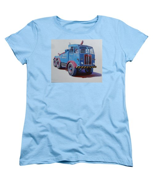 Women's T-Shirt (Standard Cut) featuring the painting Aec Militant Lloyds by Mike Jeffries