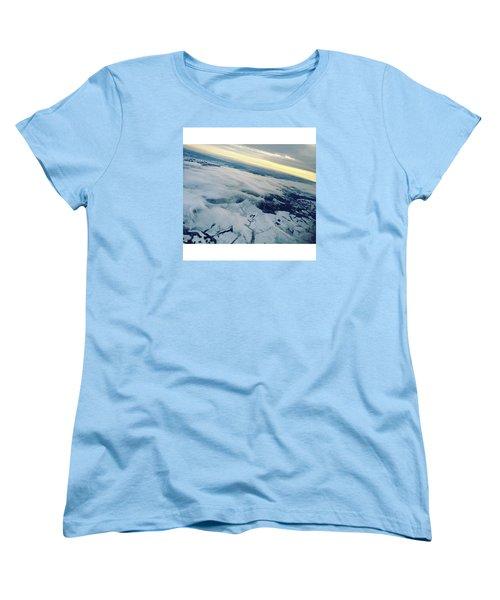 Edinburgh Winter Sunset Women's T-Shirt (Standard Cut) by Patsy Jawo