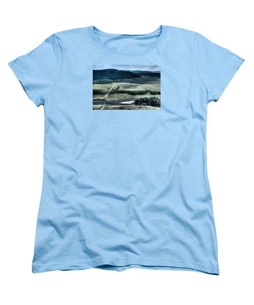 Aerial View Of Rolling Russian Hills Women's T-Shirt (Standard Cut) by John Williams