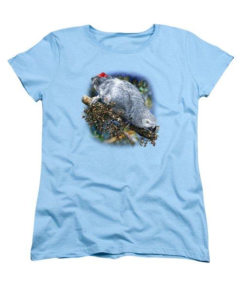 African Grey Parrot A1 Women's T-Shirt (Standard Cut) by Owen Bell