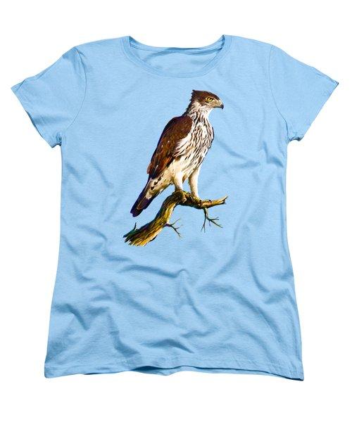 African Hawk Eagle Women's T-Shirt (Standard Cut) by Anthony Mwangi