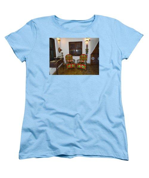 African Interior Design 5 Beaded Chairs Women's T-Shirt (Standard Cut) by Exploramum Exploramum