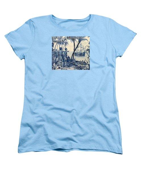 African Tile Art Women's T-Shirt (Standard Cut) by John Potts