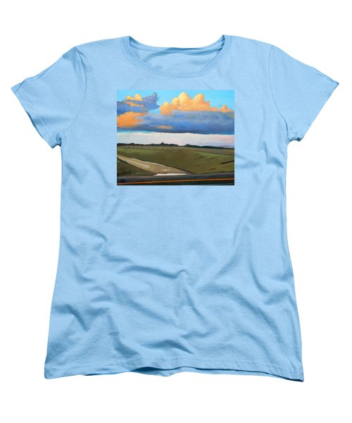 Women's T-Shirt (Standard Cut) featuring the painting After Shower by Gary Coleman