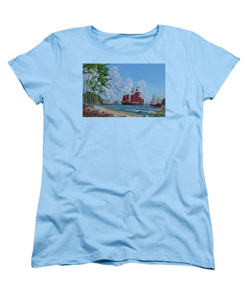 Women's T-Shirt (Standard Cut) featuring the painting After The Storm by Anthony Lyon