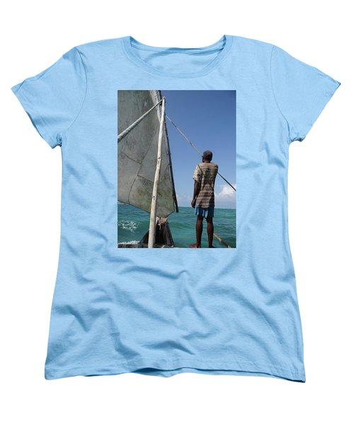 Afternoon Sailing In Africa Women's T-Shirt (Standard Cut) by Exploramum Exploramum