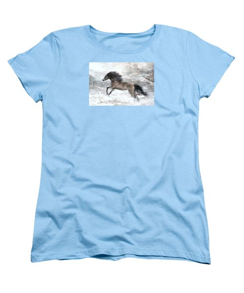 Against The Wind Women's T-Shirt (Standard Cut) by Dorota Kudyba