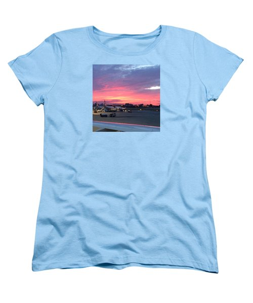 London City Airport Sunset Women's T-Shirt (Standard Cut) by Patsy Jawo