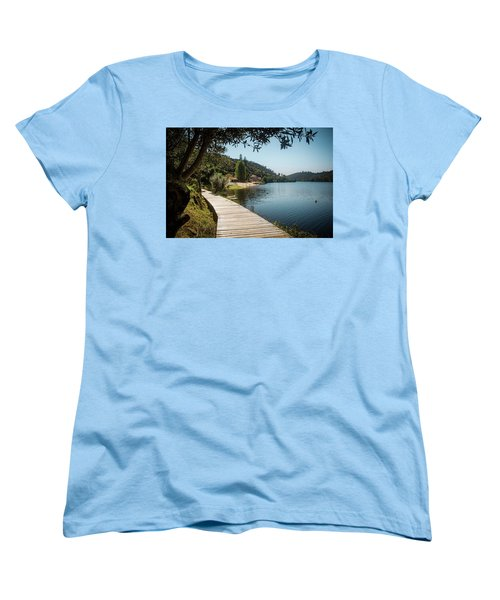 Women's T-Shirt (Standard Cut) featuring the photograph Alamal Beach by Carlos Caetano