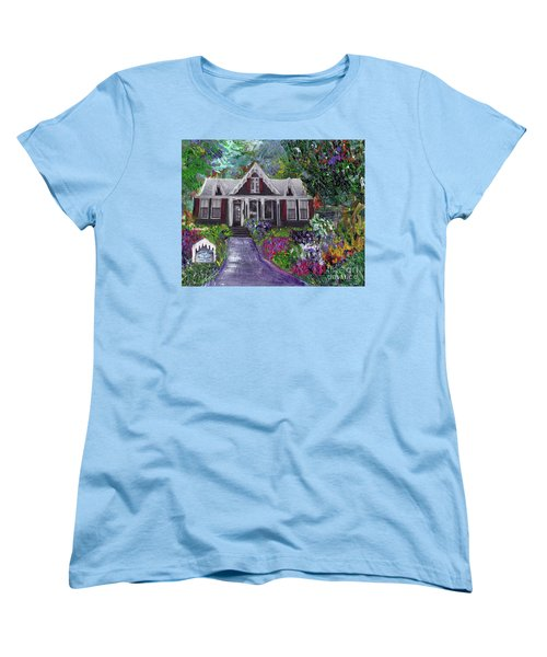 Alameda 1854 Gothic Revival - The Webster House Women's T-Shirt (Standard Cut) by Linda Weinstock
