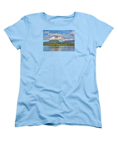 Women's T-Shirt (Standard Cut) featuring the photograph Alaska Morning by Lewis Mann