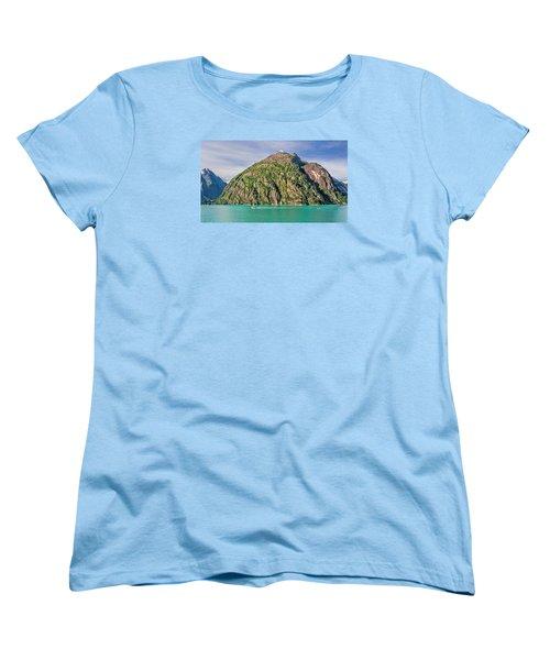 Women's T-Shirt (Standard Cut) featuring the photograph Alaskan Day Cruise by Lewis Mann