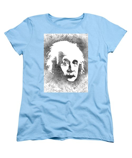 Albert Einstein Bw  Women's T-Shirt (Standard Cut) by Mihaela Pater