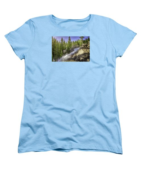 Alberta Falls Women's T-Shirt (Standard Cut) by Mary Angelini