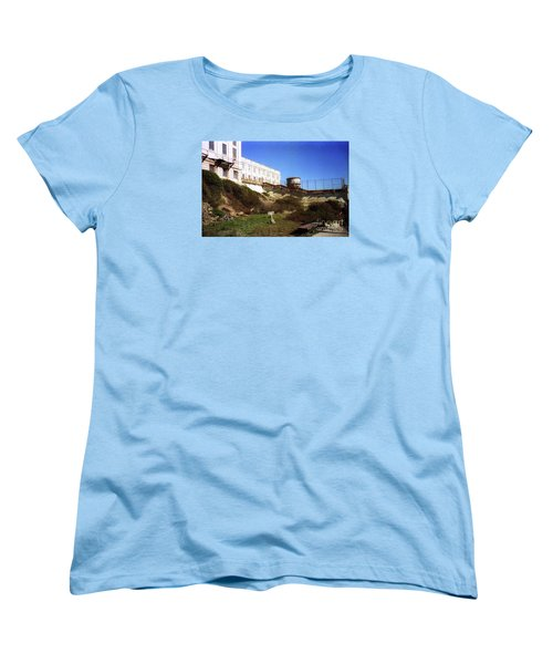 Alcatraz Water Tank Prison  Women's T-Shirt (Standard Cut) by Ted Pollard