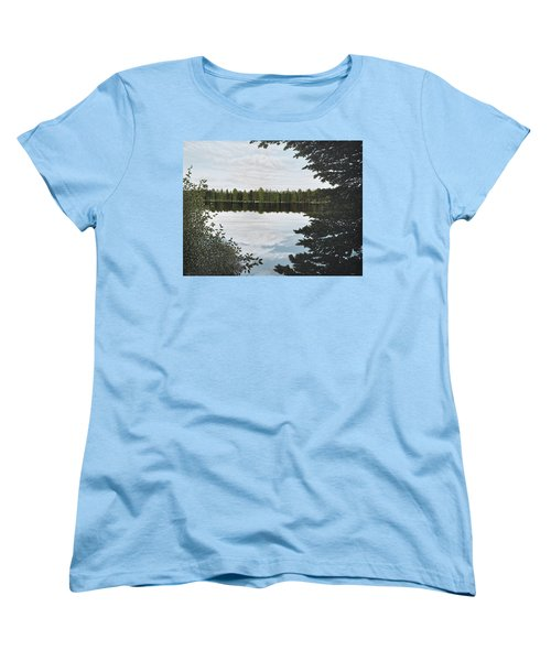 Women's T-Shirt (Standard Cut) featuring the painting Algonquin Park by Kenneth M  Kirsch