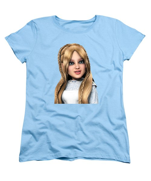 Women's T-Shirt (Standard Cut) featuring the painting Alice Portrait by Methune Hively