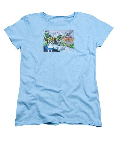 Alien In Wonderland Women's T-Shirt (Standard Cut)