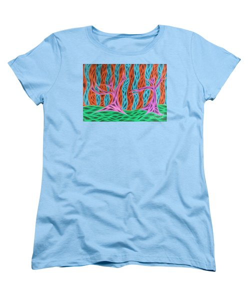 Alien Moon Dance Women's T-Shirt (Standard Cut) by Jamie Lynn