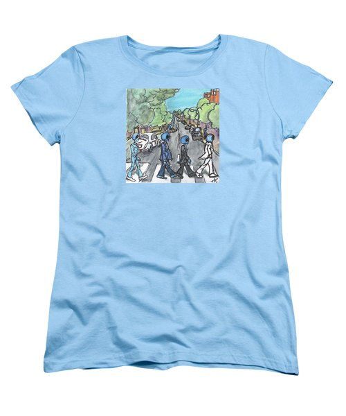 Women's T-Shirt (Standard Cut) featuring the painting Alien Road by Similar Alien