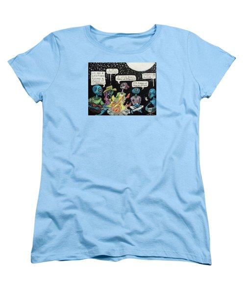 Aliens By The Campfire Women's T-Shirt (Standard Cut)