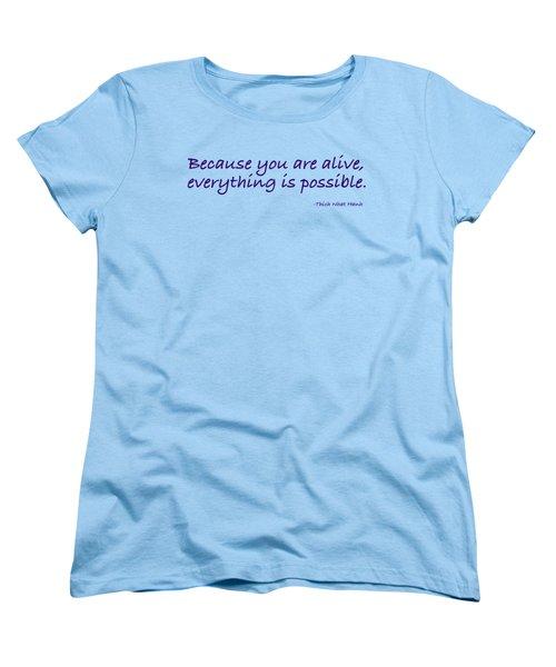 Alive Women's T-Shirt (Standard Cut) by Julie Niemela