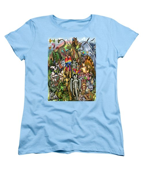 All Creatures Great Small Women's T-Shirt (Standard Cut) by Kevin Middleton