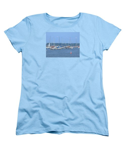 Women's T-Shirt (Standard Cut) featuring the photograph All In Line by Newwwman