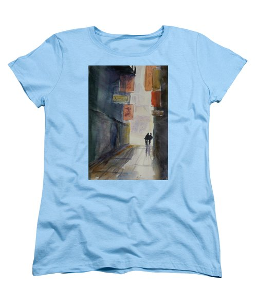 Alley In Chinatown Women's T-Shirt (Standard Cut) by Tom Simmons
