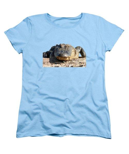 Alligator Approach .png Women's T-Shirt (Standard Cut) by Al Powell Photography USA