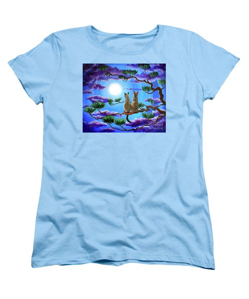 Alone In The Treetops Women's T-Shirt (Standard Cut) by Laura Iverson