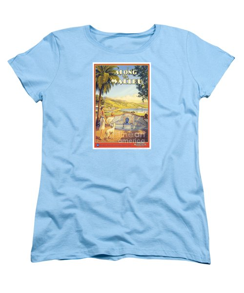 Along The Malibu Women's T-Shirt (Standard Cut) by Nostalgic Prints