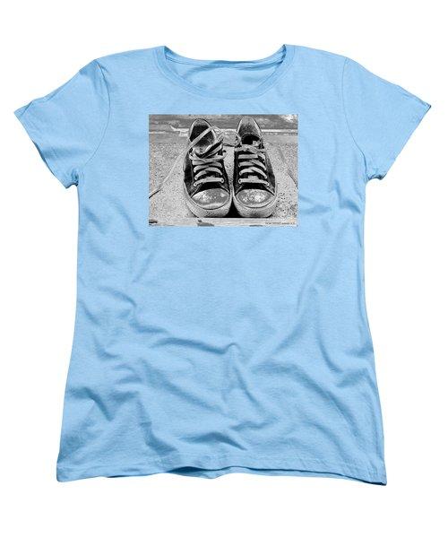 Old Sneakers. Women's T-Shirt (Standard Cut) by Don Pedro De Gracia