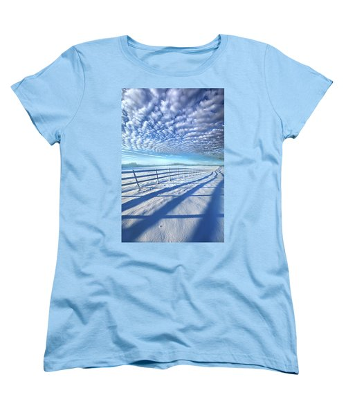 Women's T-Shirt (Standard Cut) featuring the photograph Always Whiter On The Other Side Of The Fence by Phil Koch