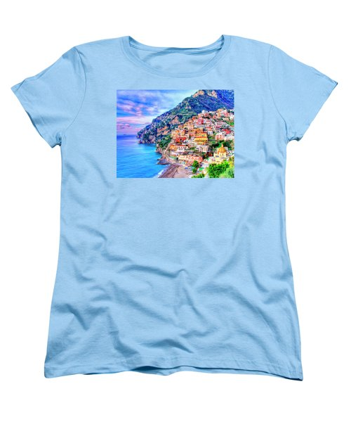 Amalfi Coast At Positano Women's T-Shirt (Standard Cut) by Dominic Piperata