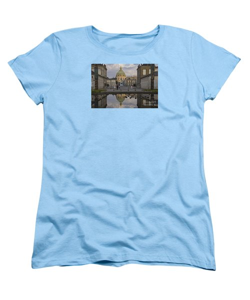 Women's T-Shirt (Standard Cut) featuring the photograph Amalienborg Castle And The Marble Church by Inge Riis McDonald