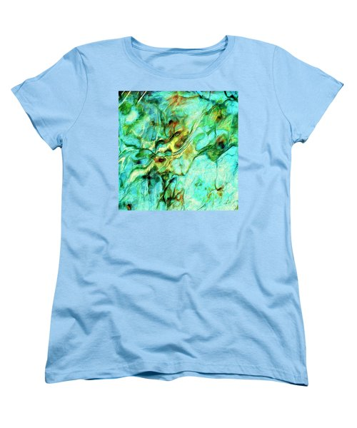 Women's T-Shirt (Standard Cut) featuring the painting Amazon by Dominic Piperata