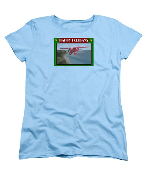 Women's T-Shirt (Standard Cut) featuring the painting Amelia's Vega Christmas Card by Stuart Swartz