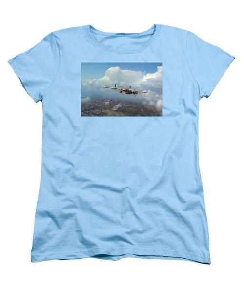 Women's T-Shirt (Standard Cut) featuring the digital art America Strikes Back by Peter Chilelli