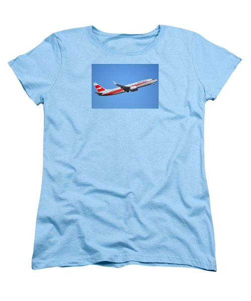 American Boeing 737-823 N915nn Retro Twa Phoenix Sky Harbor January 12 2015 Women's T-Shirt (Standard Cut)